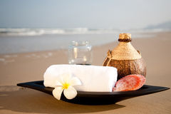 SPA on the beach Royalty Free Stock Images