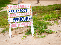 Spa on the beach Royalty Free Stock Photo