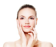 Spa Beauty, Aesthetic Me. Healthy Woman with Fresh Skin. Spa Beauty, Aesthetic Medicine and Treatment stock photography