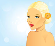 Spa beauty ( blond ) Royalty Free Stock Photos