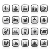 Spa, Beauty and body care icons Stock Photos