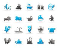 Spa, Beauty and body care icons vector illustration