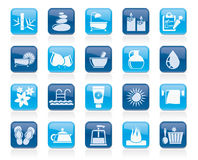 Spa, Beauty and body care icons royalty free illustration