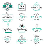 Spa beauty and body care vector logo templates Royalty Free Stock Photography