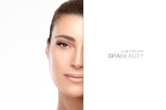 Spa Beauty Concept. Beauty portrait of a gorgeous young woman Royalty Free Stock Photo