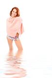 Spa beauty girl in towel Royalty Free Stock Photography
