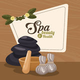 Spa beauty and health herbal organic wellness. Vector illustration eps 10 Stock Photography
