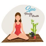Spa beauty and health poster. Vector illustration design Royalty Free Stock Photo