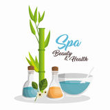 Spa beauty and health poster. Vector illustration design Royalty Free Stock Photography