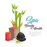 Spa beauty and health poster. Vector illustration design Royalty Free Stock Image