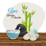 Spa beauty and health poster. Vector illustration design Stock Images