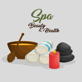 Spa beauty and health poster. Vector illustration design Stock Photos