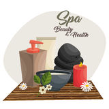 Spa beauty and health poster. Vector illustration design Royalty Free Stock Images