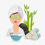 Spa beauty and health poster. Vector illustration design Royalty Free Stock Photos