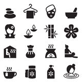 Spa, Beauty, Healthy Massage icons set 2 Vector illustration Stock Photos