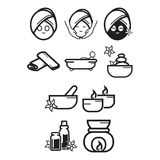 Spa and beauty icon set Royalty Free Stock Photography