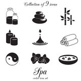 Spa and beauty icon set. Royalty Free Stock Photography