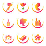 Spa and beauty icons set Stock Images