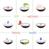 SPA and beauty icons Royalty Free Stock Photo