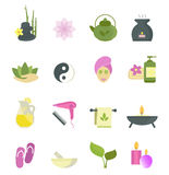 Spa beauty icons vector collection Stock Photography