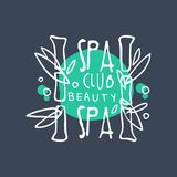 Spa and beauty logo, emblem for wellness, yoga center, health and cosmetics label. Spa and beauty logo, emblem for wellness, yoga center, health and cosmetics Royalty Free Stock Photos