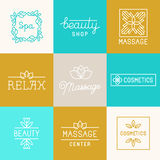 Spa and beauty logos Royalty Free Stock Photo