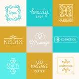 Spa and beauty logos Royalty Free Stock Photo