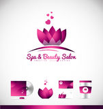 Spa beauty lotus flower logo icon design Royalty Free Stock Photography
