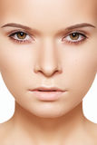 Spa beauty makeup. Beautiful girl face, clean skin Stock Images