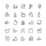 Spa and beauty outline icons Stock Photos