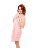 Spa beauty redheaded girl Stock Image