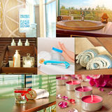 In a spa - a beauty salon collage Stock Images