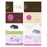 Spa and beauty. Set of backgrounds with text and spa icons. Vector illustration Stock Image