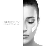 Spa Beauty and Skincare concept. Template Design royalty free stock image