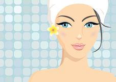 Spa beauty in vector format Stock Images