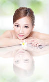 SPA beauty woman with flower Stock Image