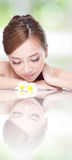 SPA beauty woman with flower Royalty Free Stock Photo