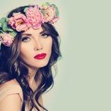 Spa Beauty. Woman. Healthy Skin and Hair. Natural Makeup Royalty Free Stock Image