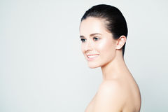 Spa Beauty. Woman with Healthy Skin Stock Image