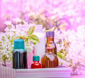 Spa behandling - begrepp (aromatherapyen) Arkivbild
