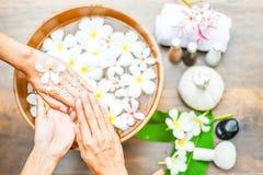 Spa behandling och produkt för handbrunnsort royaltyfri foto