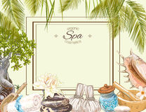 Spa big frame vector illustration