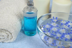 Spa in blue Royalty Free Stock Photos