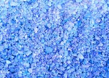 Spa blue bath salt crystals background texture Royalty Free Stock Photos