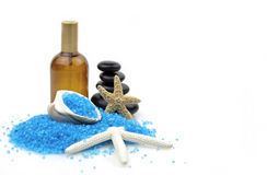 Spa and blue salt Royalty Free Stock Image