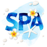 Spa blue word Royalty Free Stock Photo