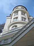 Spa building. A white spa building in Mariánské Lázně in the Czech republic stock image