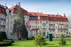 Spa building. In city Piestany, Slovakia Royalty Free Stock Photography