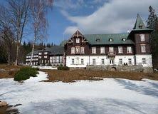 Spa buildings,Karlova Studanka, Czech Republic, Europe Royalty Free Stock Images