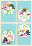 SPA Business Cards Stock Photography